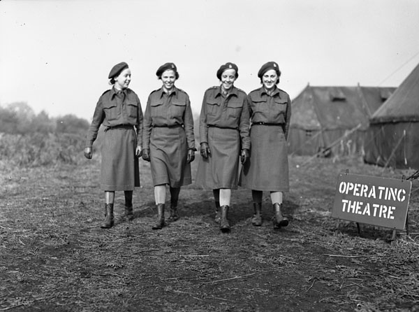 Unidentified Nursing Sisters of No. 6 Casualty Clearing Station, RCAMC, England, October 11, 1943